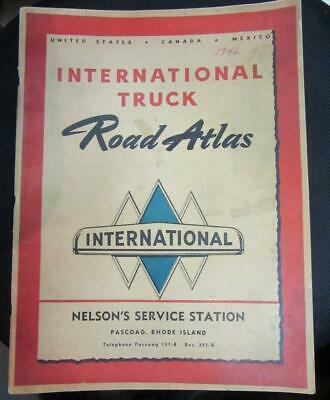 1946 INTERNATIONAL TRUCK Road ATLAS   Nelson's Service, Rhode Island   GOOD Cond