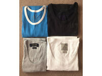 4 Men's vest tops - small/medium