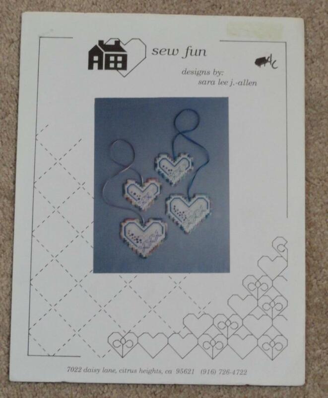 NEEDLEWORK KIT - Sew Fun Creative Canvas Heart charms - HC104/ Sara Lee J. Allen