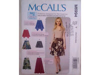 McCall's Learn to Sew for Fun Sewing Pattern   M6994   Misses' Skirts FREE POST £6