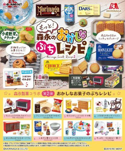 NEW Arrival! Re-Ment Miniature Morinaga 2 Sweets Recipe 700YEN rement Full Set