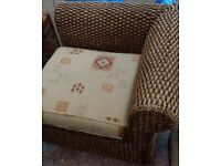 6 piece modular Wicker Furniture Set, Sofa, Settee, Chair - Free - Collection Only - Bolton