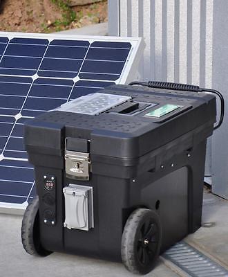 Portable 5000/2500 Watt 100 Ah Solar Generator & 100 Watt Solar Panel