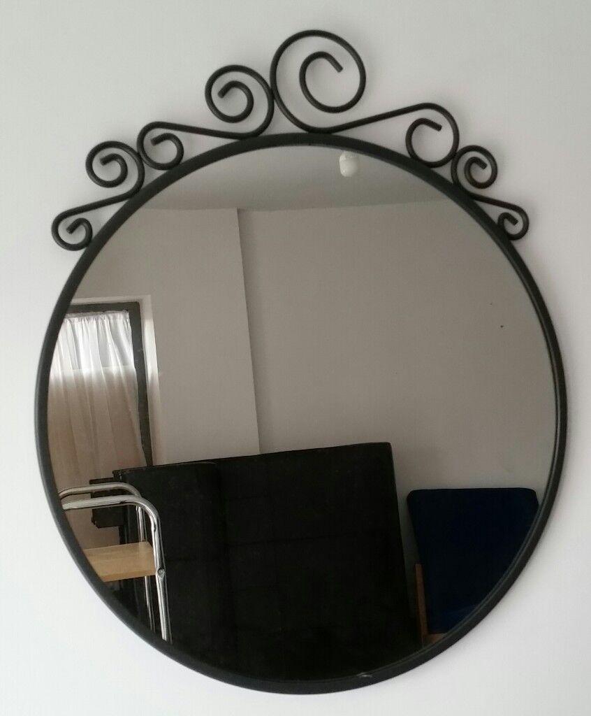 Ikea Ekne Round Mirror 50cm Dia In Very Good Condition
