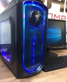 Fast Gaming Computer AMD Quad Core 8GB RAM 128GB SSD Windows 10 Desktop Free Door Delivery