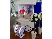 SWEET CART, ROSE TREES, PICK & MIX , WEDDING HIRE