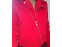 Size 10-12 H&M red bikers jacket