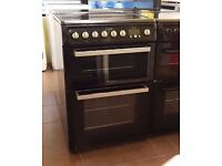 Hotpoint EW84 60cm Ceramic Cooker, Double Oven/Grill ( Fan Assisted) - 6 Months Warranty