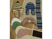 Boys hats, scarfs & gloves 3-6 & 6-12 mths
