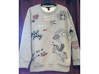 New Look Grey Embroidered Jumper BNWT