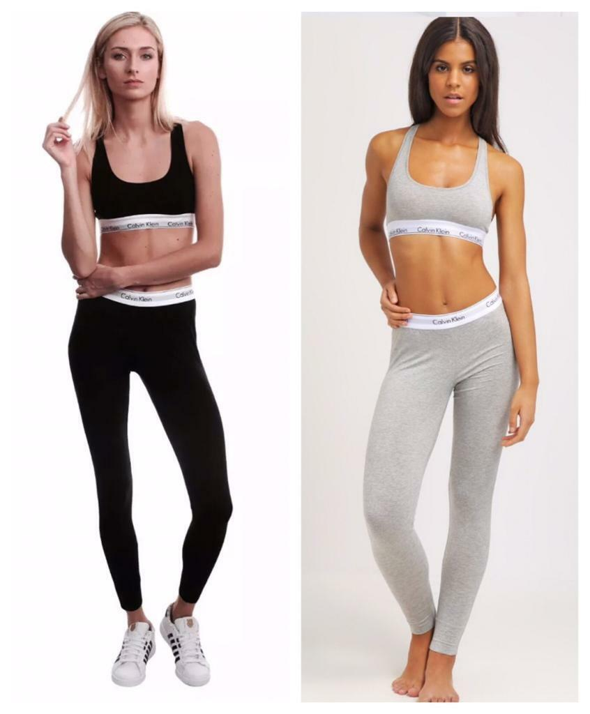 Womens CALVIN KLEIN BraLeggings set ALL SIZESin Leicester, LeicestershireGumtree - BRAND NEW IN BOX Womens CALVIN KLEIN CK Bralette sports Bra & leggings set £20 FOR A SETGREY AND BLACK COLOUR ALL SIZES AVAILABLE SMALL, MEDIUM, LARGE, EXTRA LARGE95% cotton 5% elastane Very comfortable and excellent quality 100% ORIGINAL Cash on...