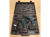 Spear and Jackson 18Volt Cordless Drill Twin Pack for sale