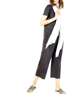 New with Tag - $248 Eileen Fisher Black Tencel Stretch Jersey Jumpsuit Size M