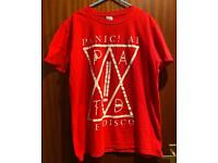 Unisex Panic At The Disco PATD Tour Red Tshirt Merch Size Large Mens Womens.