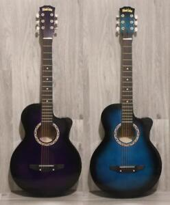 38 inch acoustic guitars for Children, Kids guitar Purple and Blue
