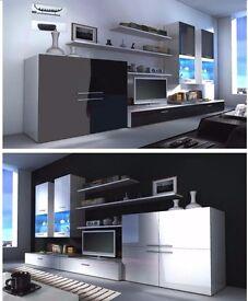 TV Wall unit BETA / Free LED !!! / TV stand / Living room furniture / High gloss