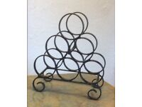 Wrought Iron Hand Crafted Wine Bottle Rack