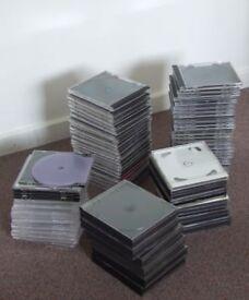 Assorted set of CD jewel cases