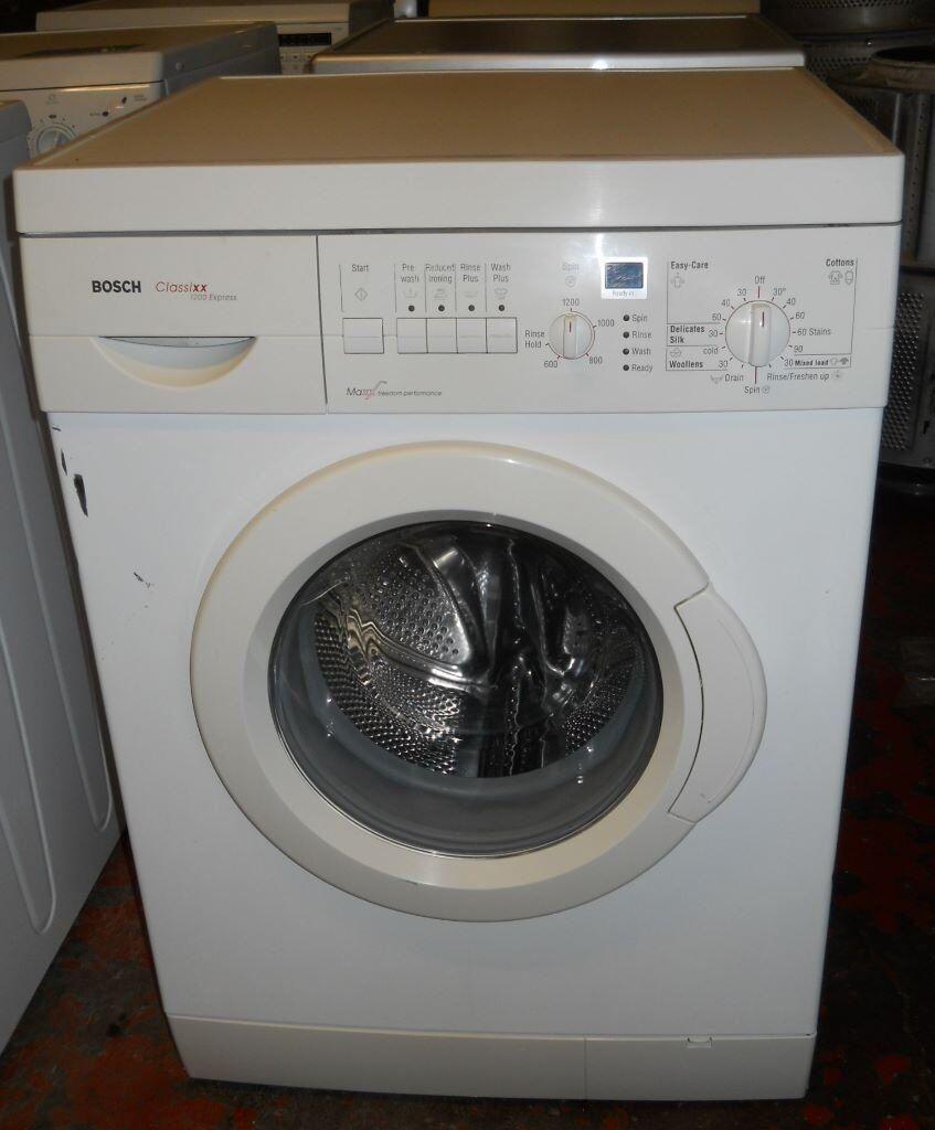 Bosch Classixx Express 1200 Washing Machine 1200 spin 6kg load New Bearings £100 due to scratch