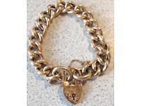 """9ct Gold Engraved Bracelet, 33g, 8"""""""