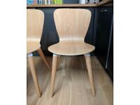 6 x MADE dot COM Edelweiss Dining Chairs Ash and White Skandi Chairs