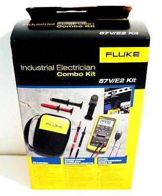 Fluke 87-v E2 87ve2 Industrial Electrician Combo Kit Digital Multimeter New