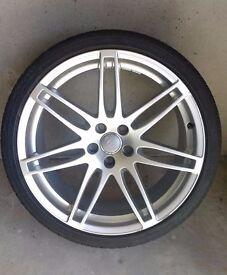 "Genuine Audi 20"" Spoke Alloys Inc Tyres - *GREAT CONDITION* A4 A5 A6 A7 Q3 Q5 Q7 VW"