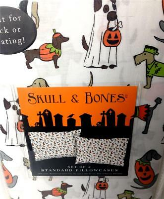 2 Pillowcases Dogs in Halloween Costumes Dachshund Standard Cotton Set
