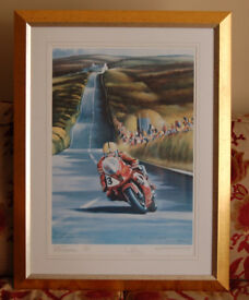 Joey Dunlop Last TT - Stunning painting by Verner Finlay - Excellent Condition