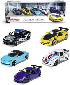 PORSCHE DIE-CAST COLLECTOR 5 Toy CAR PACK (NEW)