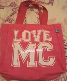 Pink cloth bag