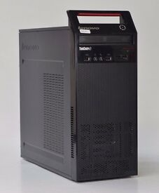 WINDOWS 7 LENOVO EDGE 72 DUAL CORE TOWER PC COMPUTER - 4GB RAM - 250GB HDD