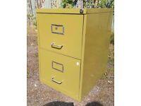 vintage filing cabinet 2 drawer