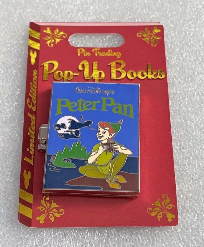 Disney Peter Pan Pin Trading Pop-Up Books Hinged LE 4000 Pin
