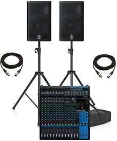Yamaha BAND PA System 15 inch active speakers - 16 channel mixer