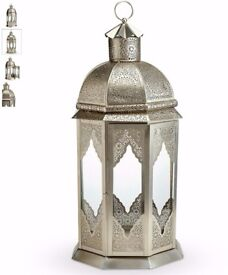 Xl Jordan Lantern M&S, silver brand new with marks and spencer tags, metal/glass