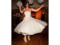 Beautiful tea length wedding dress, size 10