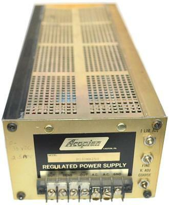 Acopian P030mx250 Regulated Power Supply 30 Vdc 2.5 Amps