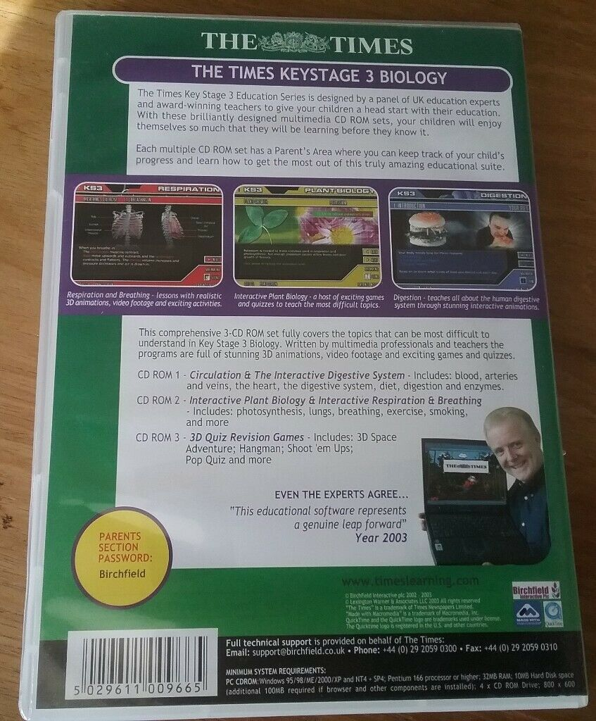 Set of 3 The Times Keystage 3 Science Revision PC CD ROMs and Eyewitness  Encyclopedia of Science 2 0 | in North Walsham, Norfolk | Gumtree