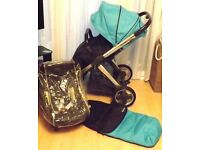 babystyle oyster pram pushchair /carseat + adaptors + radley baby bag