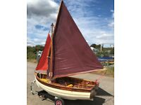 Sailing Dinghy for sale classic epoxied wooden 9ft dinghy