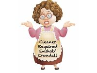 Cleaner - Monday or Thursday Ewshot (can give lift locally)