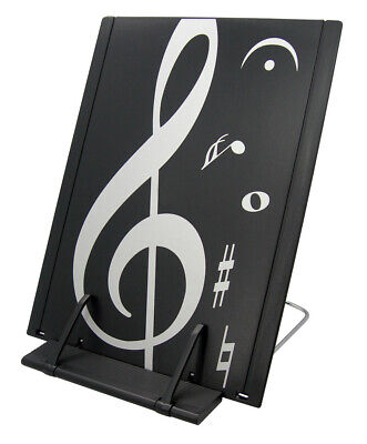 Music Themed Black & white treblef clef design Book Stand (ABS - Black Books Theme Music