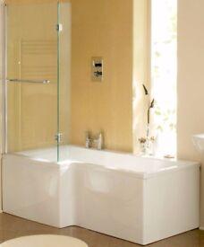 full bathroom p shape or lshape clearance