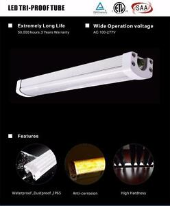 Led Tri proof 4ft -60W-4500LM/waterproof IP65 Great for car wash/workshop/outdoor usage