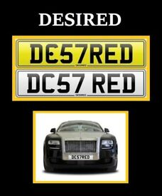 DESIRED NUMBER PLATE