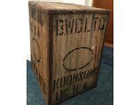 Vintage Indian wooden tea chest