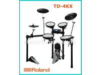 Roland TD-4KX electronic V Drums kit kick pedal FULL MESH set predecessor td-11 NICE