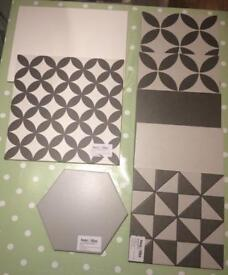8 x tile samples various designs