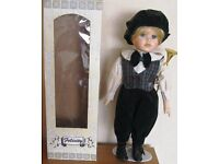 Porcelain Doll with stand, boxed